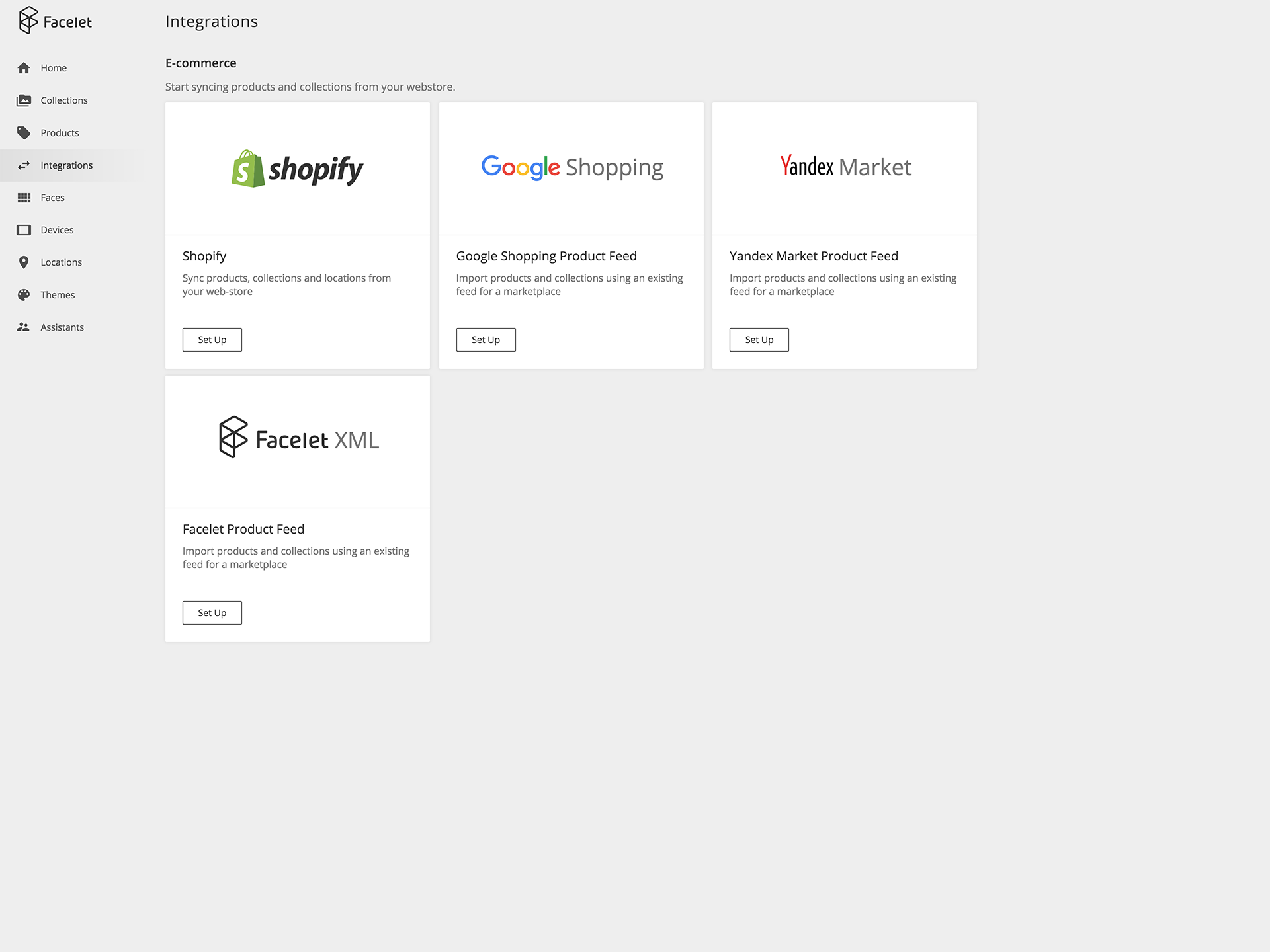Quick integration with Shopify, Google Shopping, or your web store catalog