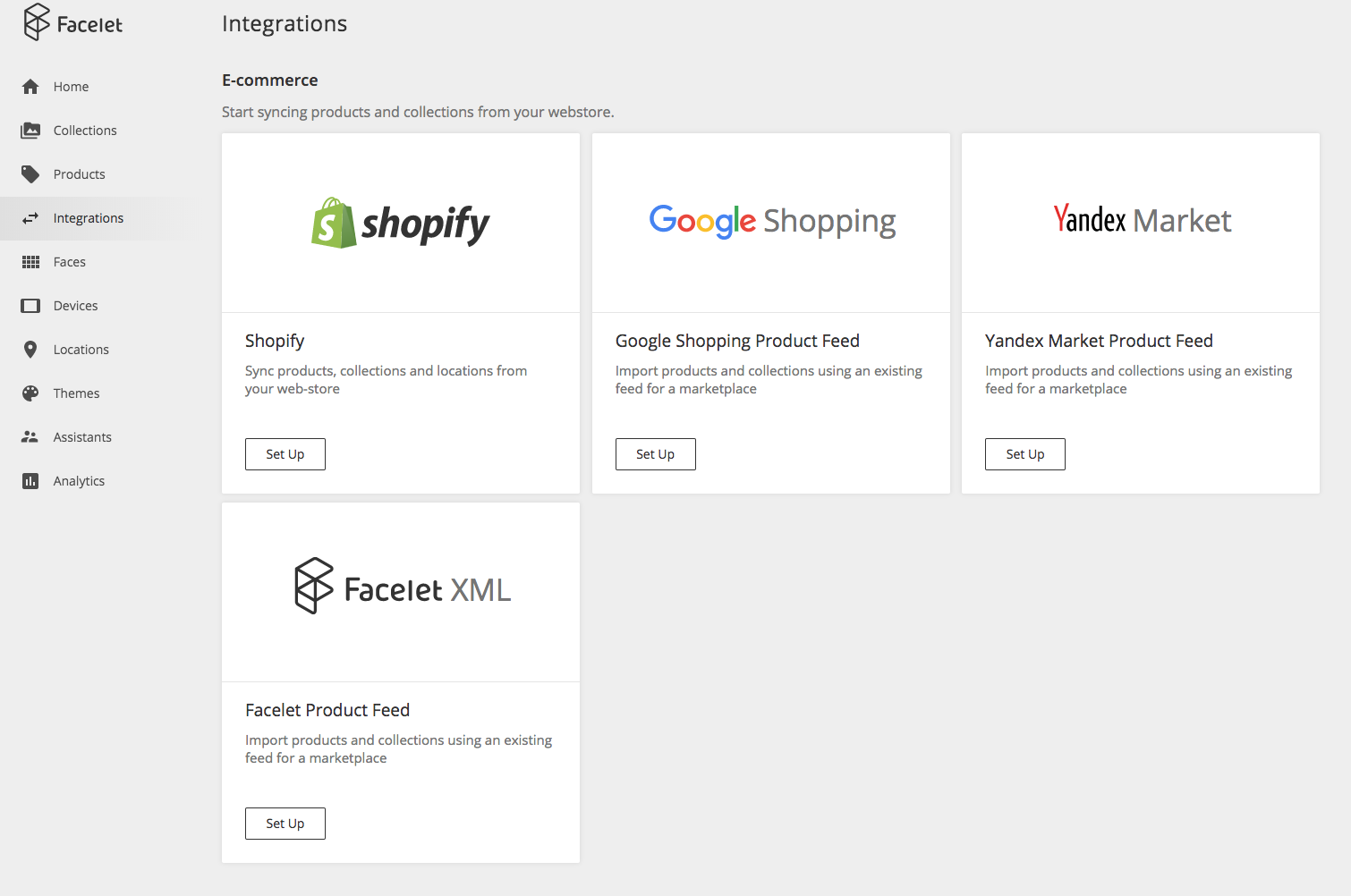 Shopify and Google shopping integration screen