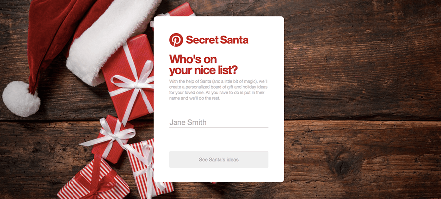 screenshot from pinterest site who is on your nice list